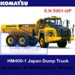 Komatsu HM400-3 Japan Dump Truck S.N 5001-UP Operation and Maintenance Manual
