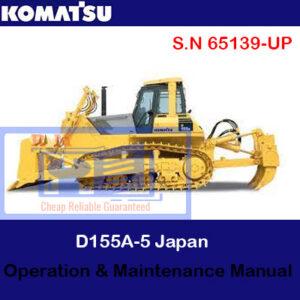 Komatsu D155A-5 Japan Bulldozer S.N 65139-UP Operation and Maintenance Manual