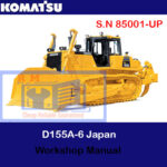 Komatsu D155A-6 Japan Bulldozer S.N 85001-UP Workshop Manual