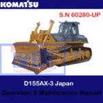 Komatsu D155AX-3 Japan Bulldozer S.N 60280-UP Operation and Maintenance Manual
