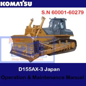 Komatsu D155AX-3 Japan Bulldozer S.N 60001-60279 Operation and Maintenance Manual