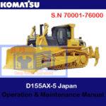 Komatsu D155AX-5 Japan Bulldozer S.N 70001-76000 Operation and Maintenance Manual