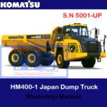 Komatsu HM400-3 Japan Dump Truck S.N 5001-UP Workshop Manual