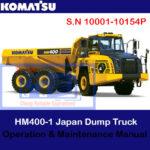 Komatsu HM400-5 Japan Dump Truck S.N 10001-10154P Operation and Maintenance Manual