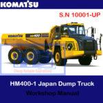 Komatsu HM400-5 Japan Dump Truck S.N 10001-UP Workshop Manual