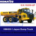 Komatsu HM400-5 Japan Dump Truck S.N 10238-UP Operation and Maintenance Manual