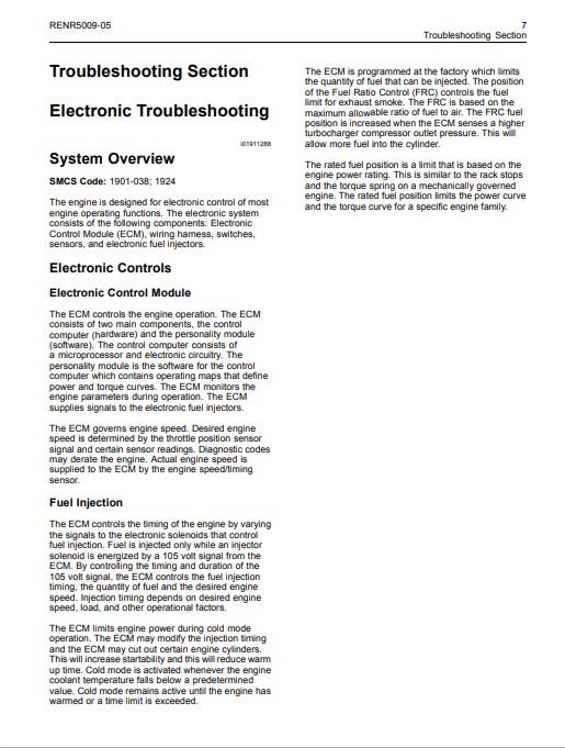 caterpillar engine manuals