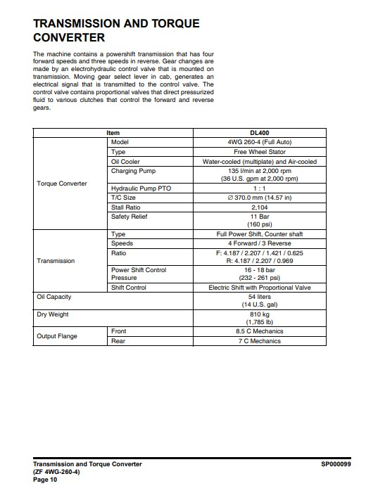 doosan dl400 workshop manual