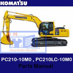 Komatsu PC210-10M0 , PC210LC-10M0 Excavator Parts Manual