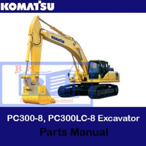 Komatsu PC300-8, PC300LC-8 Excavator Parts Manual